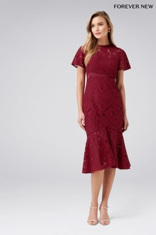 Forever New Hanky Hem Lace Dress