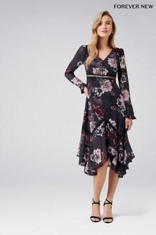 Forever New Floral Hanky Hem Trim Dress