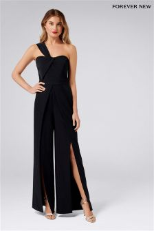 Forever New Asymmetric Bodice Jumpsuit