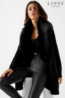 Lipsy Faux Fur Longline Cardigan