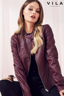 Vila Faux Leather Jacket