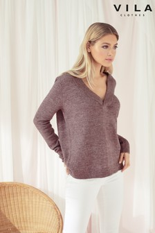 Vila Knit V neck Jumper