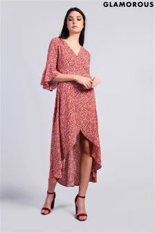 Glamarous Printed Wrap Dress