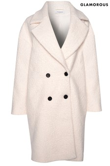 Glamorous Curve Double Breasted Coat