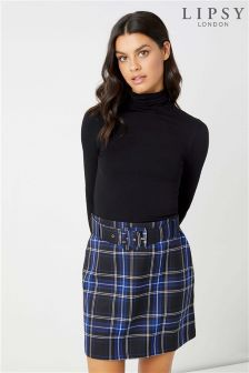 Lipsy Check Belted Skirt