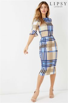 Lipsy Check Pencil Skirt