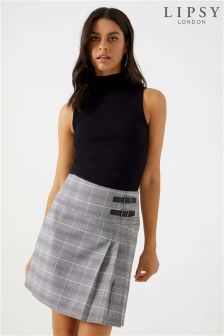 Lipsy Check Kilt Mini Skirt