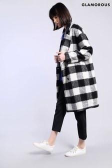 Glamorous Large Gingham Print Coat