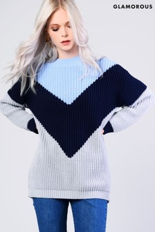 Glamorous Three Tone Knitted Jumper