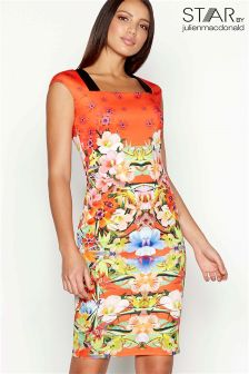 Star By Julien Macdonald Scuba Printed Dress