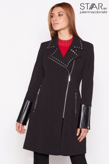 Star By Julien Macdonald Square Studded Crepe Coat