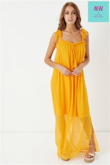 MW By Matthew Willamson Tassel Tie Maxi Dress