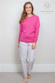 Cyberjammies Knit Top And Floral Print Pant