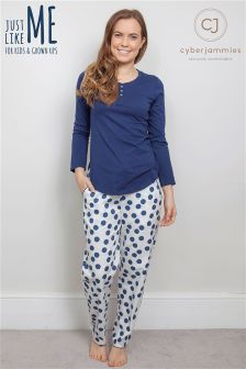 Cyberjammies Knit Top And Spot Pant Set