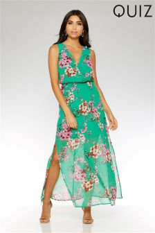 Quiz Floral Oriental Print Dress
