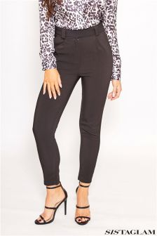Sistaglam Tie Detail Tailored Fit Trousers