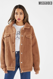 Missguided Oversized Borg Trucker Jacket