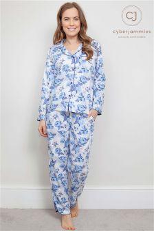 Cyberjammies Floral Print Pyjama Set