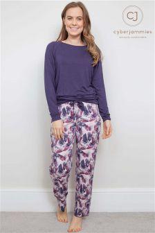 Cyberjammies Butterfly Print Pyjama Set