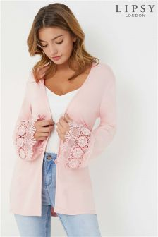 Lipsy Crochet Sleeve Cardigan
