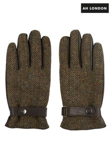 Guantes verdes de tweed harris de AH London