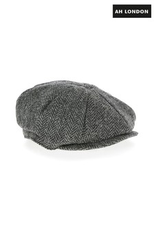 AH London Flaches Cap aus Harris-Tweed