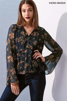 Vero Moda Chiffon Floral Print Top