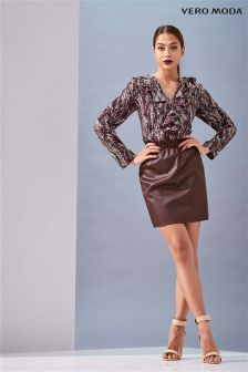 Vero Moda Faux Leather Skirt