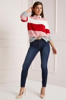 Lipsy Kim Lift & Shape Skinny-Jeans in reglärer Länge mit mittelhohem Bund, blau