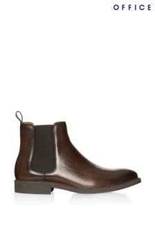 Office Leather Chelsea Boots