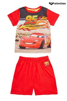Missimo Nightwear Lightning McQueen Cars Shorts PJ Set