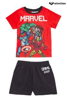 Missimo Nightwear Disney Marvel T-Shirt and Shorts PJ Set