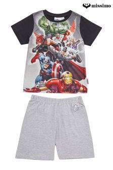 Missimo Nightwear Marvel Avengers Print T-Shirt and Shorts PJ Set