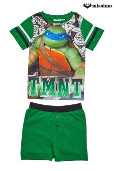 Missimo Nightwear Ninja Turtle Print T-Shirt & Shorts PJ Set