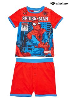 Missimo Nightwear Spiderman T-Shirt & Shorts PJ Set