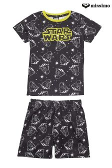 Missimo Nightwear Star Wars Print T-Shirt and Shorts PJ Set