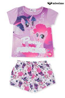 Missimo Girls My Little Pony Movie Shorty PJ Set