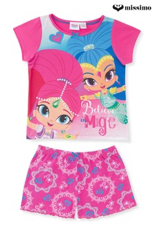 Missimo Girls Shimmer & Shine Shorty PJ Set
