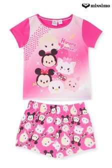 Missimo Girls Disney Tsum Tsum Shorty PJ Set