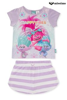 Missimo Girls Trolls Shorts PJ Set