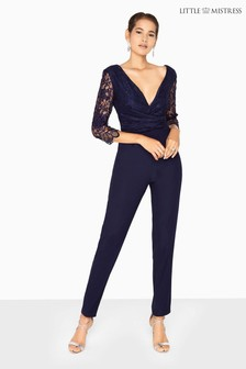 Little Mistress Lace Jumpsuit
