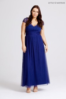 Little Mistress Curve Sequin Maxi Dress