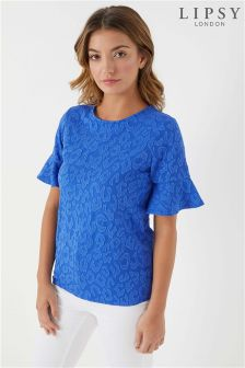 Lipsy Animal Flute Sleeve Top