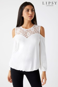 Lipsy Cold Shoulder Sweetheart Top