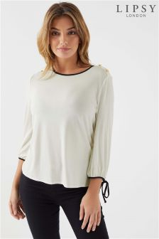 Lipsy 3/4 Sleeve Tipping Top