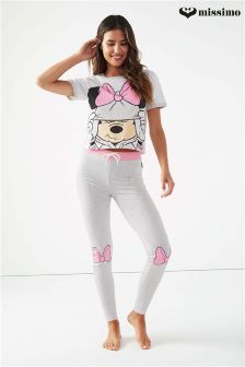 Missimo Nightwear Minnie Mouse Pyjamaset mit Oberteil und Leggings