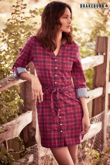Brakeburn Check Shirt Dress