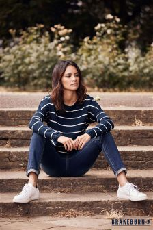 Brakeburn Stripe Long Sleeve Jumper