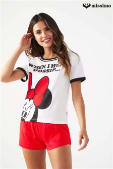 Missimo Nightwear Minnie Mouse Top and Shorts PJ Set