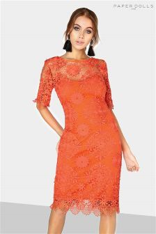 Paper Dolls Lace Bodycon Midi Dress